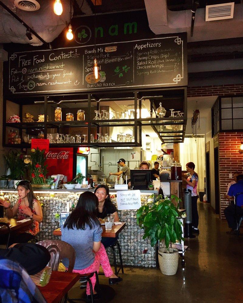 Nam Vietnamese Restaurant Richmond Hill Menu
